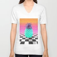 pineapple V-neck T-shirts featuring Pineapple by Danny Ivan