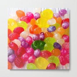 Colorful Sweet Candies Metal Print