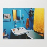 bathroom Canvas Prints featuring Bathroom by Gabriel Miller Tafra