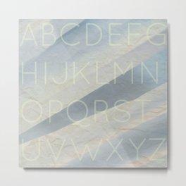 Alphabet Angel Metal Print