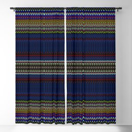 Navy Rag Weave II by Chris Sparks Blackout Curtain