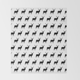 Deer Silhouettes Throw Blanket