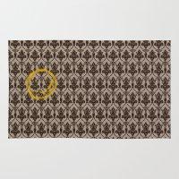 221b Area & Throw Rugs featuring Sherlock Wallpaper by Katikut