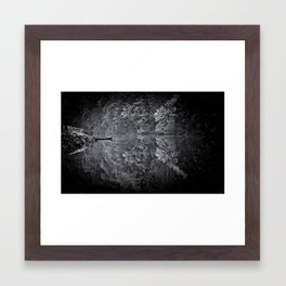monochrome reflections Framed Art Print