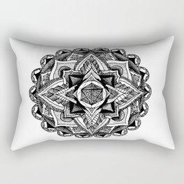 Mandala Circles Rectangular Pillow