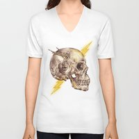 the flash V-neck T-shirts featuring Flash by Alan Maia