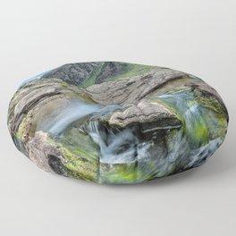 Tryfan Mountain Stream  Floor Pillow
