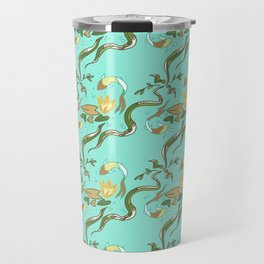 Koi Lilypad aqua Travel Mug