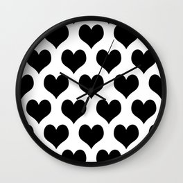 White Black Heart Minimalist Wall Clock