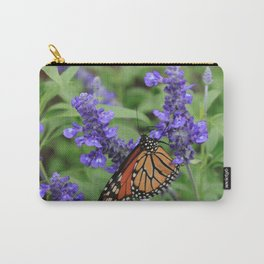 Purple Flowers & Butterfly Carry-All Pouch