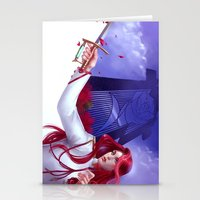 utena Stationery Cards featuring Duelist by franzkatter