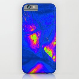 blue pink woman iPhone Case