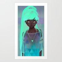 loish Art Prints featuring lumen by loish