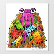 Imaginary Friend Monster Canvas Print