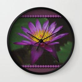 Purple Water Lily Photo  Wall Clock