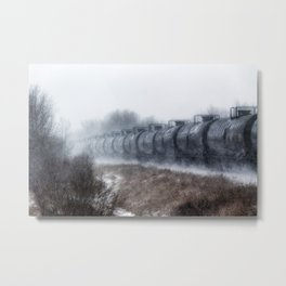 Winter Locomotion Metal Print