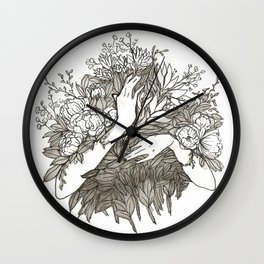 Flowers and Flowers and Flowers Wall Clock