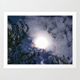 Iridescent Clouds Art Print