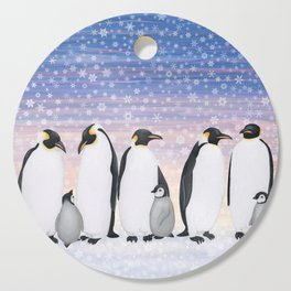 emperor penguin colony Cutting Board