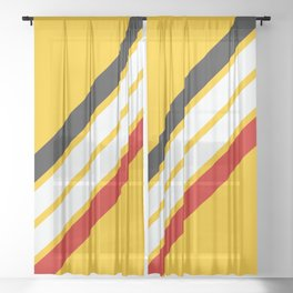 Oldschool Retro Stripes Sheer Curtain