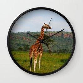 Kenya Giraffe Wall Clock