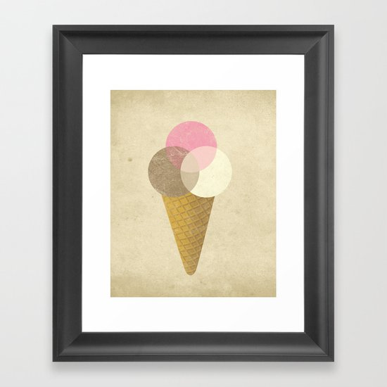 Ice Cream Venndor Framed Art Print