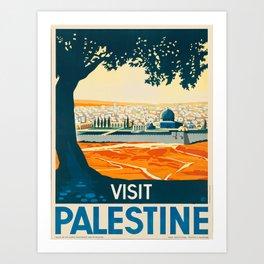 Vintage poster - Palestine Art Print