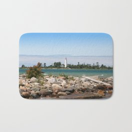 Beach with a view Bath Mat