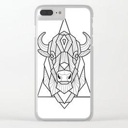 Geometric Buffalo Clear iPhone Case