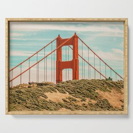Golden Gate Bridge II / San Francisco, California Serving Tray