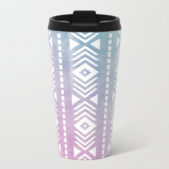 Aztec Pattern 12 Metal Travel Mug