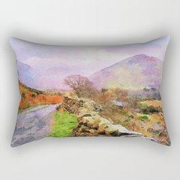 The Road to Hardknott Pass, Lake District,Cumbria,UK Rectangular Pillow