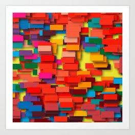 colored bricks Art Print
