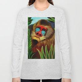 "Henri Rousseau ""Mandrill in the Jungle"", 1909 Long Sleeve T-shirt"