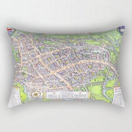 OXFORD university map ENGLAND dorm decor Rectangular Pillow