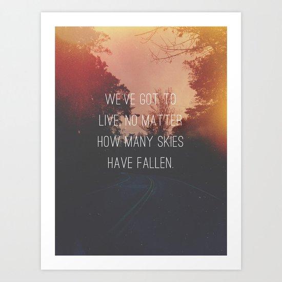 Fallen Skies Art Print