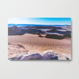 Valle de la Luna (Moon Valley) in San Pedro de Atacama, Chile Metal Print