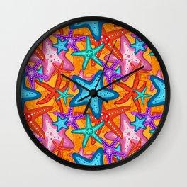 Starfish Pattern Design 2 Wall Clock