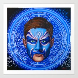 Blue Lantern Art Print