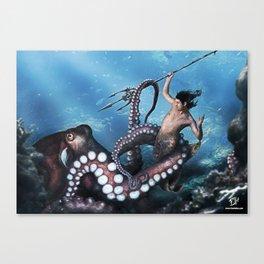 Marine Combat Canvas Print