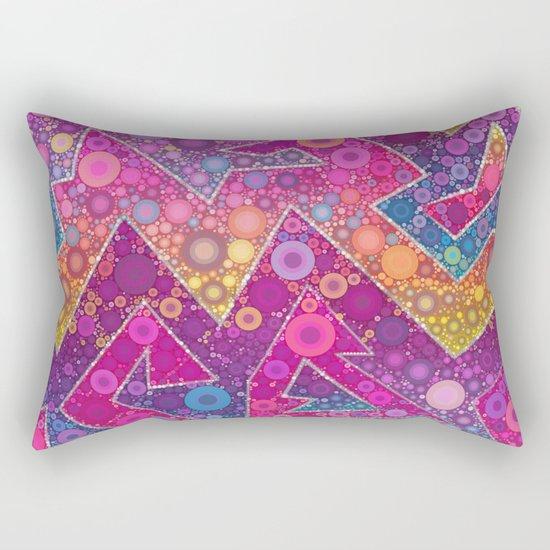 Rave Bubbles At Sunrise Rectangular Pillow