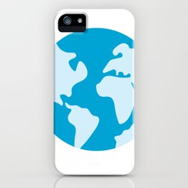 Minimalist Earth Science Badge iPhone Case