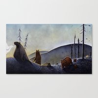 bears Canvas Prints featuring Bears  by Kristin Rian