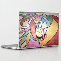 metallic Laptop & iPad Skins featuring Metallic Horse by J&C Creations