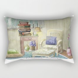 Weekend: Sorted - Watercolor Painting Rectangular Pillow