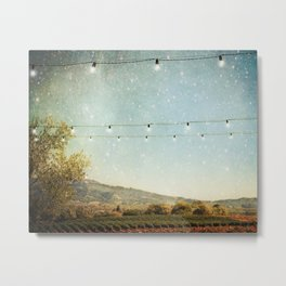 Starlit Vineyard Metal Print