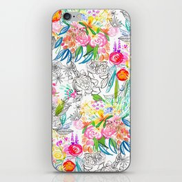 Tropical Botanical Sketchbook  iPhone Skin