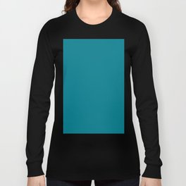 Teal Solid Long Sleeve T-shirt