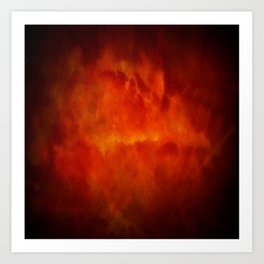 Paradise Fire - Memorial - Fire In The Sky - Clouds Of Fire Art Print