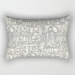 Ancient Greece indigo pearl Rectangular Pillow